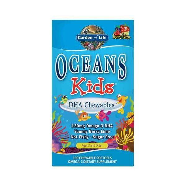 KWASY DHA DLA DZIECI (OCEANS KIDS DHA CHEWABLES OMEGA-3) 120kaps. Garden of Life