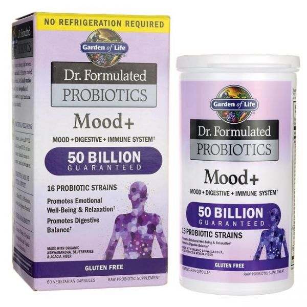 PROBIOTYKI ANTYSTRES (MOOD+ DR FORMULATED) 60 kaps. Garden of