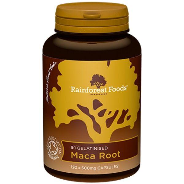MACA EKSTRAKT BIO 500mg 120kaps. Rainforest Foods