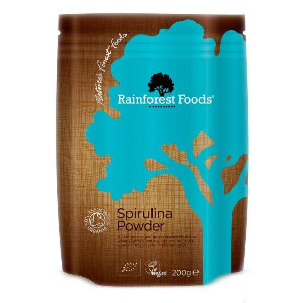 SPIRULINA PROSZEK BIO 200g Rainforest Foods