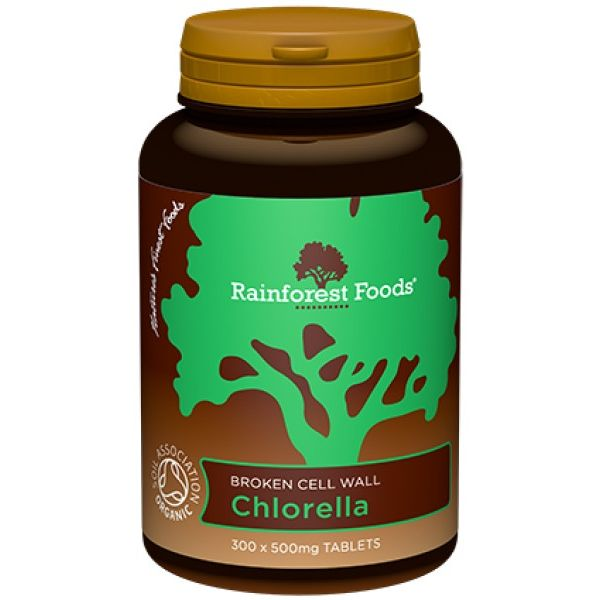 CHLORELLA BIO 500mg 300tabl. Rainforest Foods